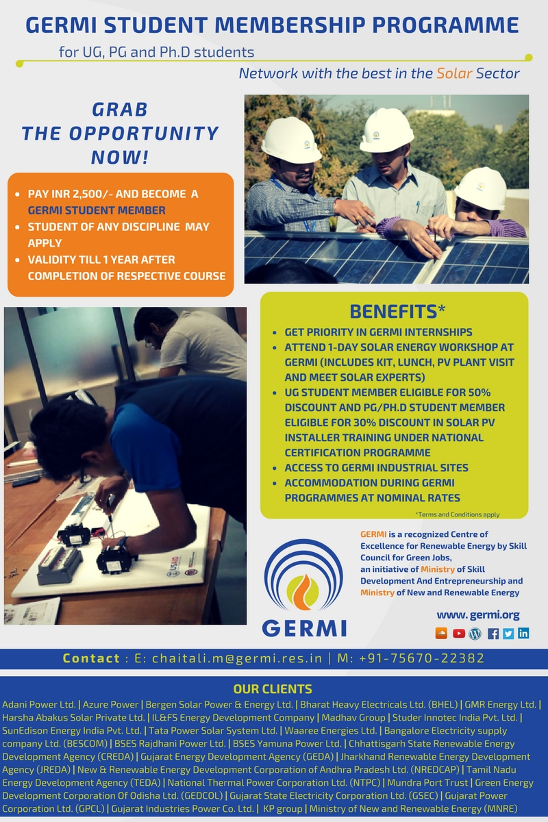 NATIONAL CERTIFICATION PROGRAMME FOR ROOFTOP SOLAR PHOTOVOLTAIC